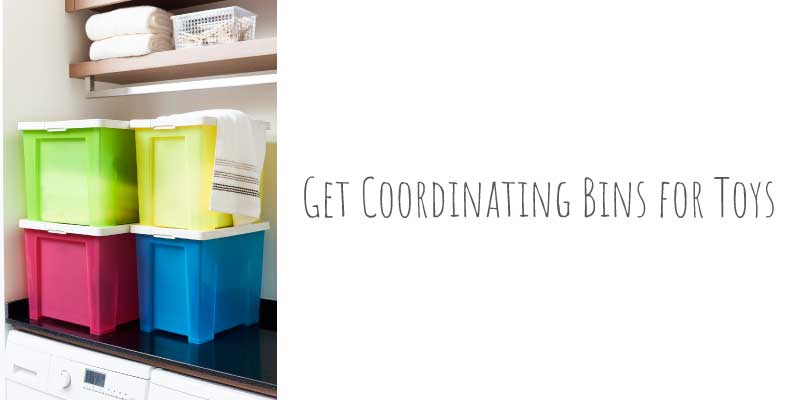 coordinating bins for kids