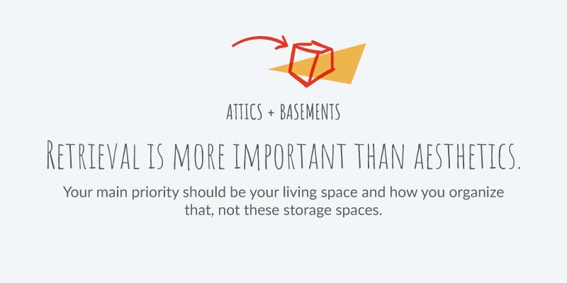 Organizing the basement or attic