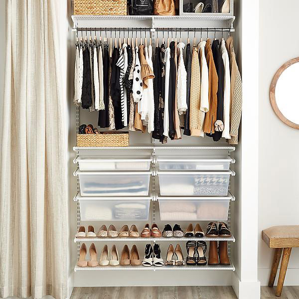 Bon You Can Spend A Pretty Penny On A Contractor Building You A Custom Closet  But Nothing Gives You The Bang For The Buck Like Elfa Closets At The  Container ...